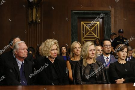 Everett Edward Kavanaugh Jr., Martha Kavanaughlisten, Laura Cox Kaplan and Ashley Estes Kavanaugh listen at the Senate Judiciary Committee hearing on the nomination of Brett Kavanaugh to be an associate justice of the Supreme Court of the United States.