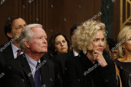 Everett Edward Kavanaugh Jr. and mother Martha Kavanaughlisten listen at the Senate Judiciary Committee hearing on the nomination of Brett Kavanaugh to be an associate justice of the Supreme Court of the United States.