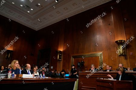 Phoenix prosecutor Rachel Mitchell questions Christine Blasey Ford as she testifies before the Senate Judiciary Committee on Capitol Hill