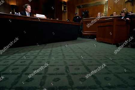 Phoenix prosecutor Rachel Mitchell questions Supreme Court nominee Brett Kavanaugh as he testifies before the Senate Judiciary Committee on Capitol Hill