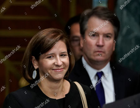 Supreme Court nominee Brett Kavanaugh and his wife Ashley Estes Kavanaugh arrives to testify before the Senate Judiciary Committee on Capitol Hill in Washington,