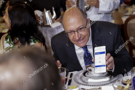 Geraldo Alckmin, candidate for the Presidency of Brazil for the Brazilian Social Democracy Party (PSDB), participates in a breakfast with leaders of evangelical churches in a campaign event, in Sao Paulo, Brazil, 27 September 2018. Amid the growing prominence of religion in Brazilian politics, several presidential candidates meet with pastors and leaders of evangelical churches in the framework of the largest Christian fair in Latin America, 'ExpoCrista', to search for the evangelical votes in Brazil presidential, legislative and regional elections scheduled for 07 October 2018.