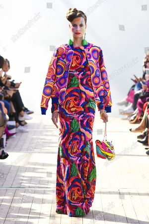 Stock Image of Alyson Vergnes on the catwalk