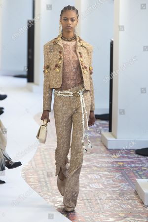 Stock Photo of Aaliyah Hydes on the catwalk