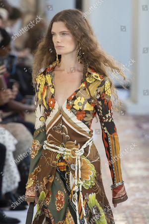 Stock Image of Carolina Burgin on the catwalk