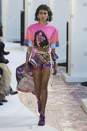 Stock Picture of Radhika Nair on the catwalk