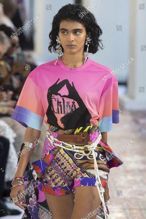 Stock Image of Radhika Nair on the catwalk