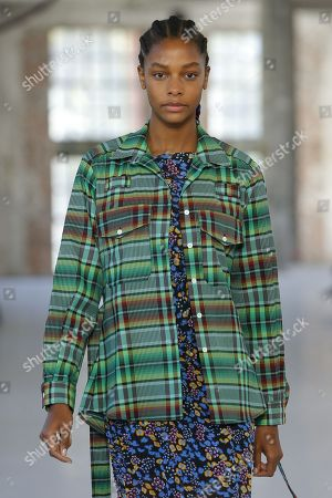 Stock Picture of Karly Loyce on the catwalk