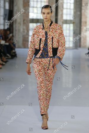 Stock Photo of Camille Hurel on the catwalk