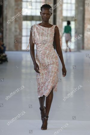 Stock Image of Shanelle Nyasiase on the catwalk