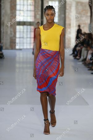 Stock Image of Karly Loyce on the catwalk