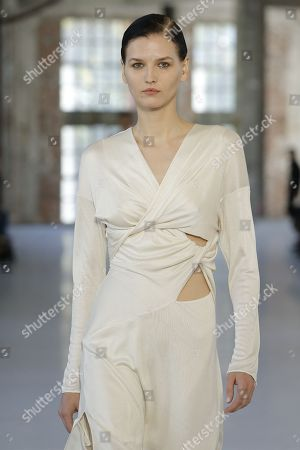 Stock Picture of Katlin Aas on the catwalk