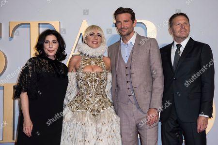 Sue Kroll, Lady Gaga, Bradley Cooper, Bill Gerber. Executive producer Sue Kroll