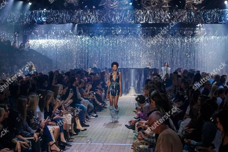 Dominican model Lineisy Montero presents a creation from the Spring/Summer 2019 Women's collection by French designer Isabel Marant during the Paris Fashion Week, in Paris, France, 27 September 2018. The presentation of the Women's collections runs from 24 September to 02 October.