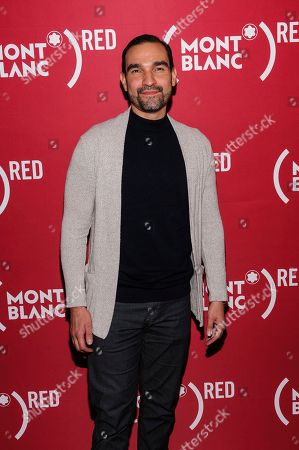 """Javier Munoz attends """"Write (RED), End AIDS"""" hosted by Montblanc and (RED) at World of McIntosh Townhouse, in New York"""