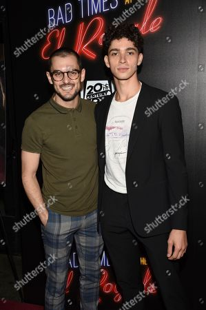 "Wesley Taylor, Isaac Powell. Wesley Taylor and Isaac Powell attend a special screening of ""Bad Times at the El Royale"" at Metrograph, in New York"