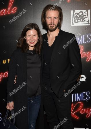 """Bill Heck, Maggie Lacey. Bill Heck and Maggie Lacey attend special screening of """"Bad Times at the El Royale"""" at Metrograph, in New York"""
