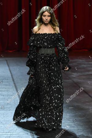 Giulia Maenza on the catwalk