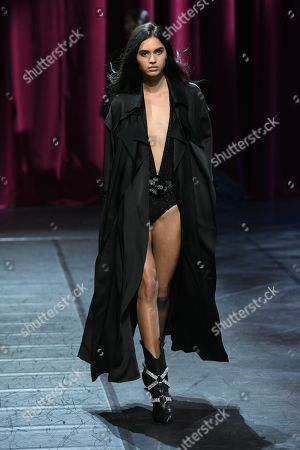 Stock Image of Aira Ferreira on the catwalk
