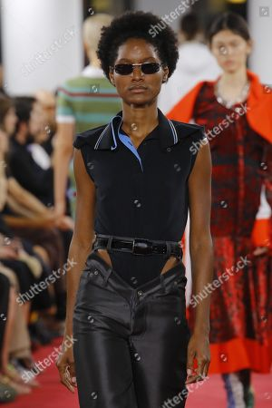 Stock Image of Aurelie Giraud on the catwalk