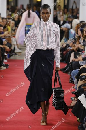 Stock Picture of Ayobami Okekunle on the catwalk
