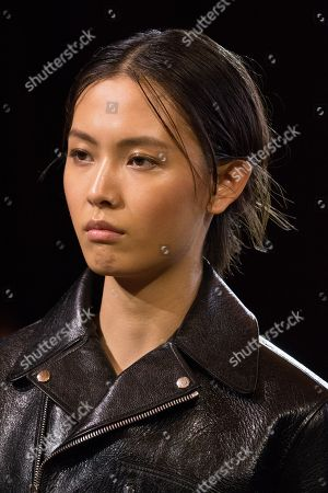 Stock Photo of Jiali Zhao on the catwalk