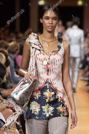 Editorial picture of Paco Rabanne show, Runway, Spring Summer 2019, Paris Fashion Week, France - 27 Sep 2018