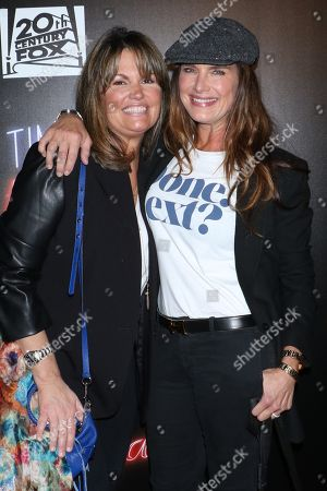 Stock Picture of Lynne Koplitz, stand-up comedian and Brooke Shields