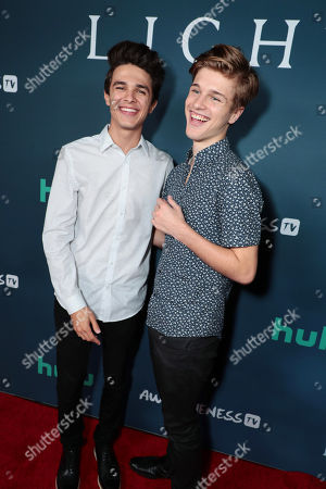 "Brent Rivera and Alex Lange attend the premiere of AwesomenessTV and Hulu's ""Light as a Feather"" at Awesomeness HQ on Thursday, September 27 in Santa Monica, CA"