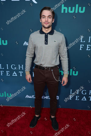 "Dylan Sprayberry attends the premiere of AwesomenessTV and Hulu's ""Light as a Feather"" at Awesomeness HQ on Thursday, September 27 in Santa Monica, CA"