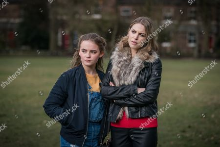 Millie Gibson as Lily and Amy Huberman as Gemma.