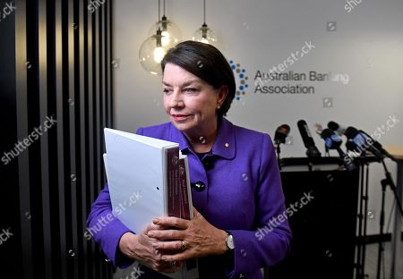 Australian Banking Association (ABA) CEO Anna Bligh leaves a press conference in Sydney, New South Wales, Australia, 28 September 28, 2018. A landmark inquiry said that the culture and conduct of the financial sector have fallen below community standards, with greed and profit coming before honesty and integrity. A royal commission investigated a series of scandals involving misconduct in the nation's banking and financial service.