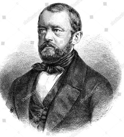 Stock Image of Otto Eduard Leopold von Bismarck-Schoenhausen, 1 April 1815, 30 July 1898, woodcut, Germany