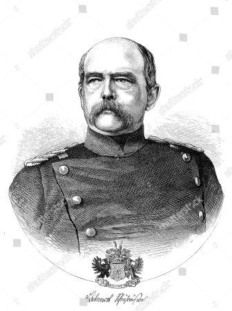 Otto Eduard Leopold, Prince of Bismarck, Duke of Lauenburg, 1 April 1815, 30 July 1898, known as Otto von Bismarck, conservative Prussian statesman, woodcut, portrait, 1885, Germany