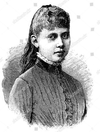 Princess Margaret Beatrice Feodora of Prussia, 1872-1954, what daughter of Crown Prince Frederick William and later German Emperor Frederick III., portrait, woodcut, 1888, Germany