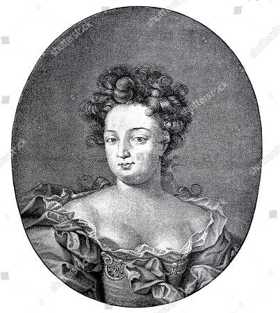 Sophie Charlotte Duchess of Brunswick and Lueneburg, October 30, 1668, February 1, 1705, woodcut, Germany