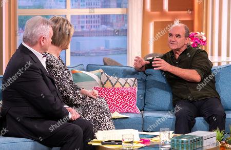 Eamonn Holmes and Ruth Langsford with David Haig