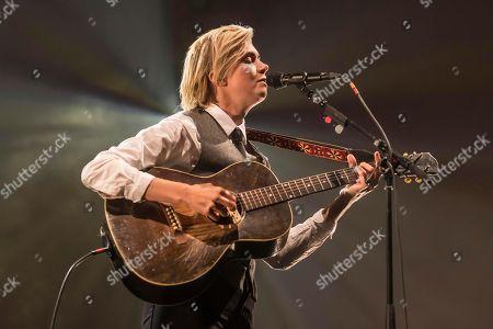 Swedish singer-songwriter Anna Ternheim live at the 26th Blue Balls Festival in Lucerne, Switzerland