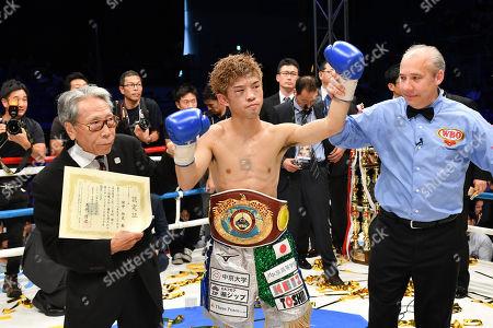 Editorial image of Sho Kimura v Kosei Tanaka WBO Flyweight boxing title fight, Nagoya, Japan - 24 Sep 2018