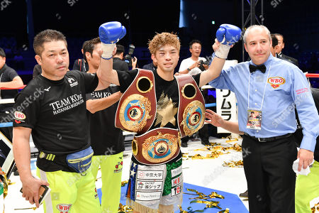 Editorial picture of Sho Kimura v Kosei Tanaka WBO Flyweight boxing title fight, Nagoya, Japan - 24 Sep 2018