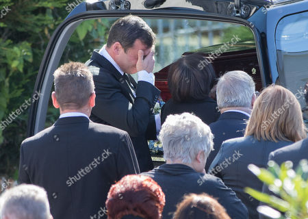 Former World Champion boxer Joe Calzaghe after the funeral of his father and boxing trainer Enzo Calzaghe