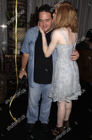 Nicola Roberts and photographer James Curley