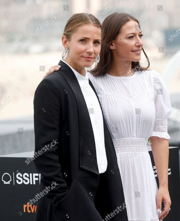 Swedish actress Tuva Novotny (L) and Norwegian actress Pia Tjelta pose during the presentation of the film 'Blind spot', at the 66 edition of San Sebastian International Film Festival, in San Sebastian, Basque Country, northern Spain, 28 September 2018.