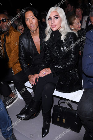 Stock Image of Stephen Gan and Lady Gaga in the front row