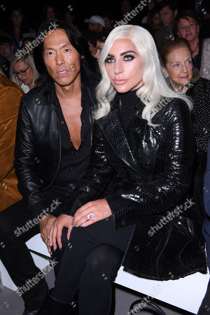 Stock Picture of Stephen Gan and Lady Gaga in the front row
