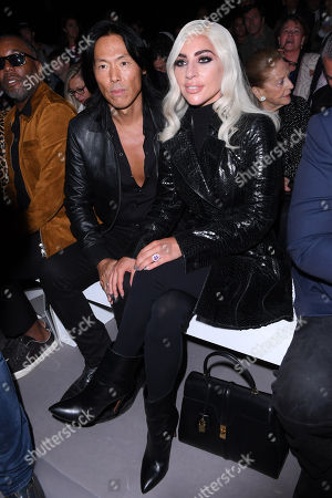 Stephen Gan and Lady Gaga in the front row