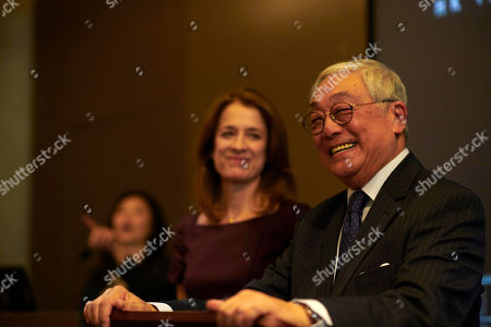 Stock Photo of Raquel Cassidy as Rachel Hargreaves and Kenneth Tsang as Xiaodong Xo.