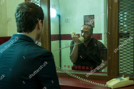 Andrew Knott as Conrad Davis and Jason Wong as Kai Huang.