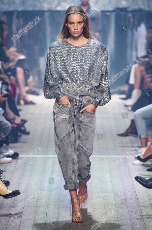 Editorial photo of Isabel Marant show, Runway, Spring Summer 2019, Paris Fashion Week, France - 27 Sep 2018