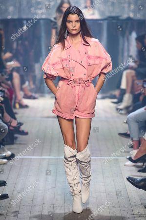 Stock Image of Michelle Van Bijen on the catwalk